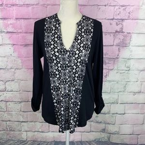 Lucky brand button down long sleeve top large NWT